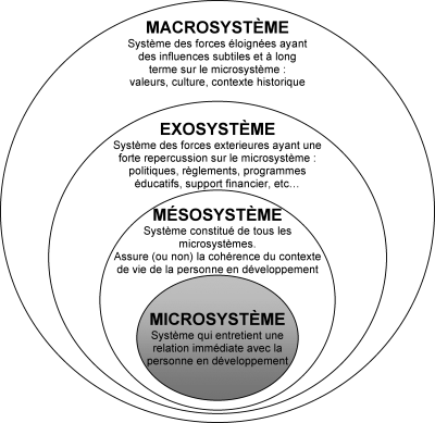 bronfenbrenner essay Bronfenbrenner developed an ecological theory of development made up of five systems the systems that will be described through this essay are the microsystem, mesosystem, exosystem, macrosystem and chronosystem.